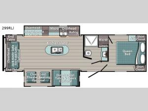 Conquest 299RLI Floorplan Image