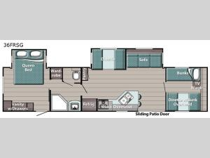 Conquest Special Edition Series 36FRSG Floorplan Image