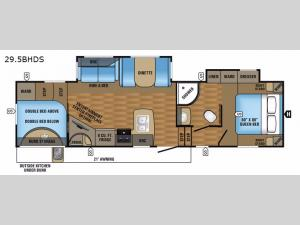 Eagle HT 29.5BHDS Floorplan Image