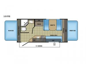 Jay Feather 7 16XRB Floorplan Image