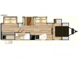 Fun Finder Signature Edition F-316BHWS Floorplan Image