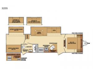 Shasta 32DS Floorplan Image