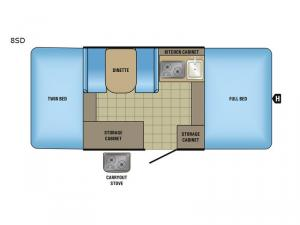 Jay Series Sport 8SD Floorplan Image