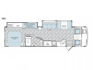 Vacationer XE 36D Floorplan Image