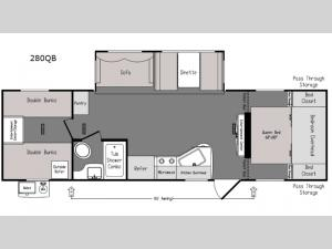 Intrepid 280QB Floorplan Image