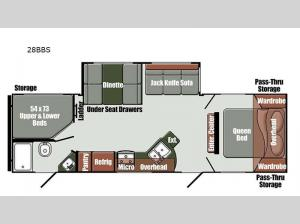 Envision Limited Edition 28BBS Floorplan Image