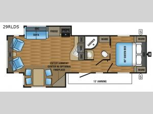 Jay Flight 29RLDS Floorplan Image