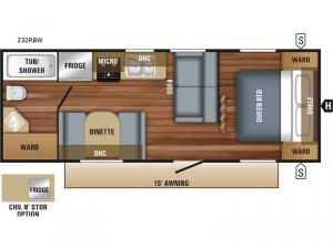Jay Flight SLX Western Edition 232RBW Floorplan Image