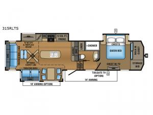 North Point 315RLTS Floorplan Image