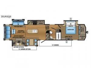North Point 351RSQS Floorplan Image