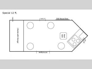 Ice Castle Fish Houses Special 12 ft. Floorplan Image