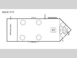 Ice Castle Fish Houses Special 14 ft. Floorplan Image