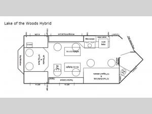 Ice Castle Fish Houses Lake of the Woods Hybrid Floorplan Image