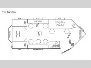 Ice Castle Fish Houses The Gambler Floorplan Image