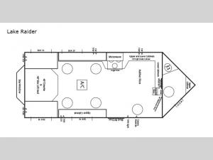 Ice Castle Fish Houses Lake Raider Floorplan Image
