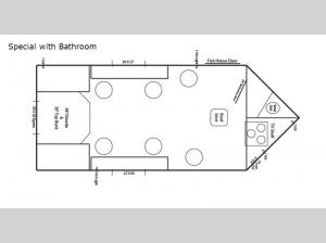 Ice Castle Fish Houses Special with Bathroom Floorplan Image