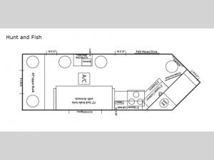 Ice Castle Fish Houses Hunt and Fish Floorplan Image