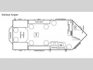 Ice Castle Fish Houses Walleye Angler Floorplan Image