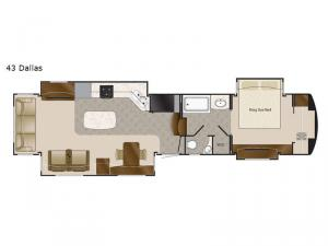 Mobile Suites 43 Dallas Floorplan Image
