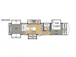 Cardinal Estate 3950TZES Floorplan Image