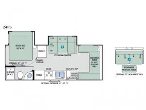 Four Winds Sprinter 24FS Floorplan Image