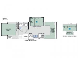 Four Winds Sprinter 24HL Floorplan Image