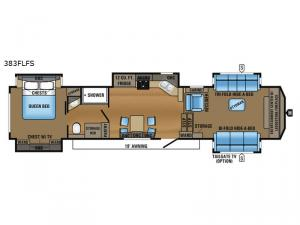 North Point 383FLFS Floorplan Image