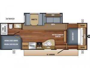 Jay Flight SLX Western Edition 267BHSW Floorplan Image