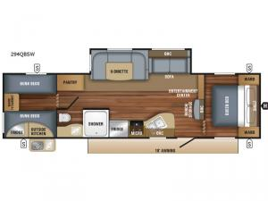 Jay Flight SLX Western Edition 294QBSW Floorplan Image