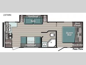 Kingsport Ultra Lite 237ARK Floorplan Image