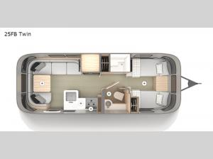 Globetrotter 25FB Twin Floorplan Image