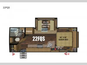 Timber Ridge Mountain Series 22FQS Floorplan Image