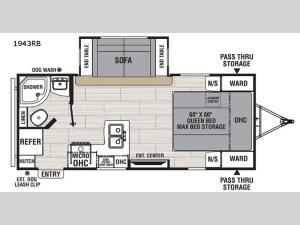 Spirit Ultra Lite 1943RB Floorplan Image