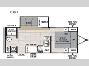 Spirit Ultra Lite 2253RB Floorplan Image