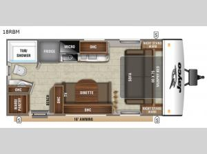 Jay Feather 18RBM Floorplan Image