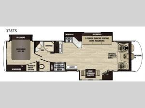 Georgetown XL 378TS Floorplan Image