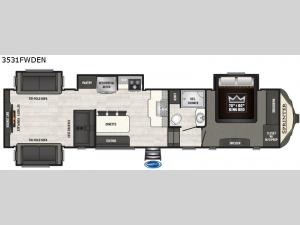 Sprinter 3531FWDEN Floorplan Image