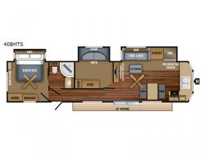 Jay Flight Bungalow 40BHTS Floorplan Image