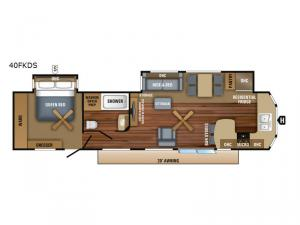 Jay Flight Bungalow 40FKDS Floorplan Image
