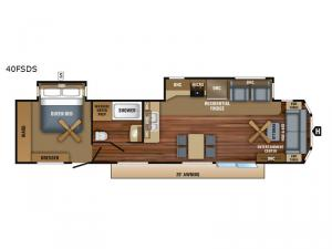 Jay Flight Bungalow 40FSDS Floorplan Image