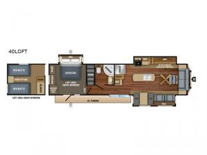 Jay Flight Bungalow 40LOFT Floorplan Image