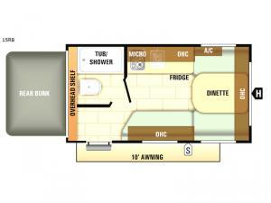 Autumn Ridge Outfitter 15RB Floorplan Image