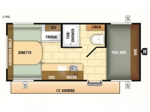 Autumn Ridge Outfitter 17RD Floorplan Image