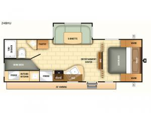 Autumn Ridge Outfitter 24BHU Floorplan Image