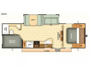 Autumn Ridge Outfitter 26BHS Floorplan Image