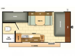Autumn Ridge Outfitter 19BH Floorplan Image