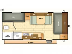 Autumn Ridge Outfitter 20BH Floorplan Image
