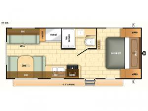 Autumn Ridge Outfitter 21FB Floorplan Image