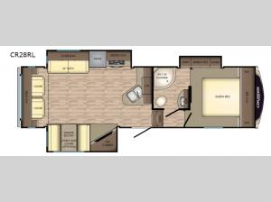 Cruiser Aire CR28RL Floorplan Image