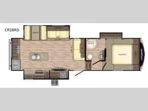 Cruiser Aire CR28RD Floorplan Image
